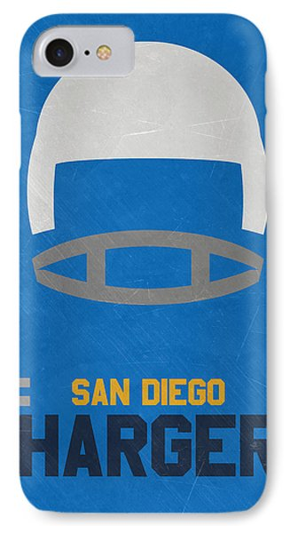 San Diego Chargers Vintage Art IPhone Case by Joe Hamilton