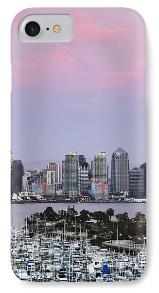 San Diego Skyline And Marina At Dusk IPhone Case by Jeremy Woodhouse
