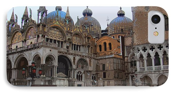San Marco And The Doge's Palace - Venice IPhone Case by Al Bourassa