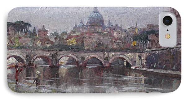 San Pietro In A Rainy Day Rome IPhone Case by Ylli Haruni