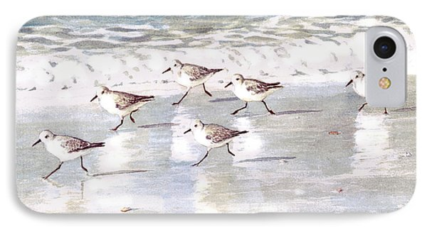 Sandpipers On Siesta Key Phone Case by Shawn McLoughlin