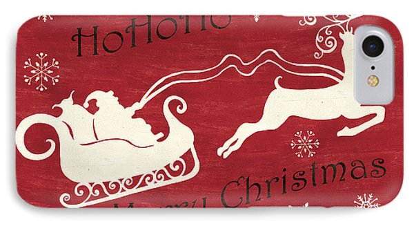 Santa And Reindeer Sleigh IPhone Case by Debbie DeWitt