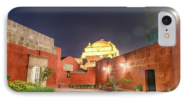 Santa Catalina Monastery Courtyard At Night IPhone Case by Jess Kraft
