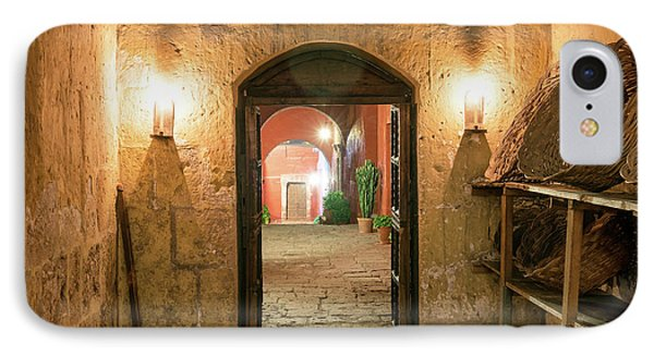 Santa Catalina Monastery Hallway IPhone Case by Jess Kraft