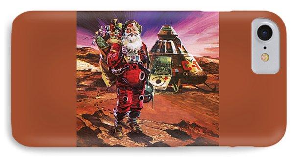 Santa Claus On Mars IPhone Case by English School