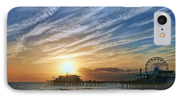Santa Monica Pier IPhone Case by Eddie Yerkish