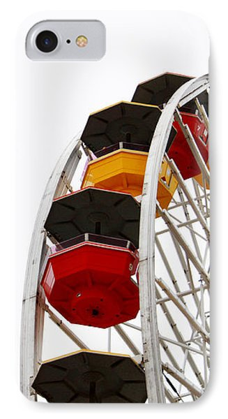 Santa Monica Pier Ferris Wheel- By Linda Woods IPhone Case by Linda Woods