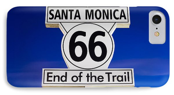 Santa Monica Route 66 Sign IPhone 7 Case by Paul Velgos
