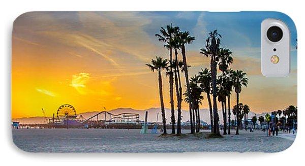Santa Monica Sunset IPhone Case by Az Jackson