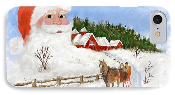 Santas Beard Phone Case by Susan Kinney