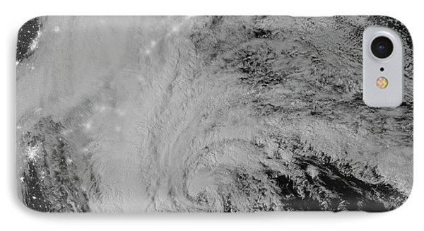 Satellite View Of Hurricane Sandy Phone Case by Stocktrek Images