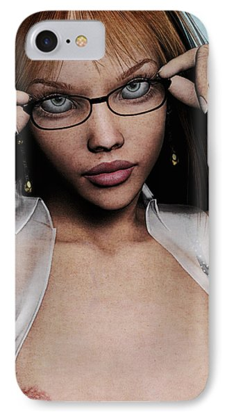 Saucy Secretary Phone Case by Maynard Ellis