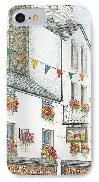 Savings Bank Clock Ulverston Cumbria IPhone Case by Sandra Moore