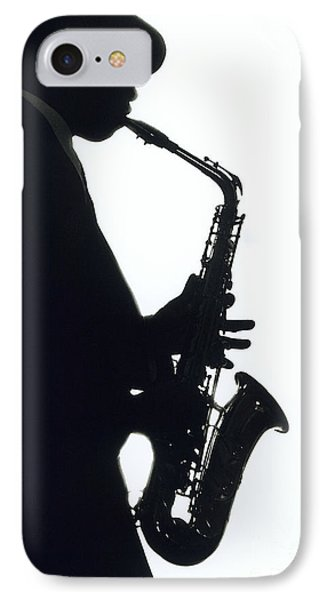 Sax 2 IPhone Case by Tony Cordoza