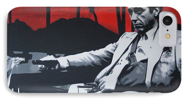 Scarface - Sunset 2013 IPhone Case by Luis Ludzska