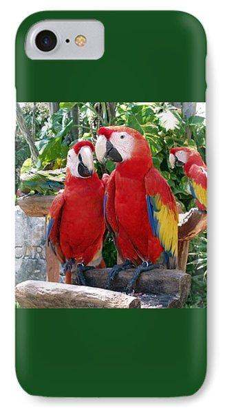 Scarlet Macaws IPhone 7 Case by Ellen Henneke