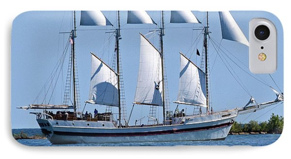 Schooner On Lake Michigan No. 1-2 IPhone Case by Sandy Taylor