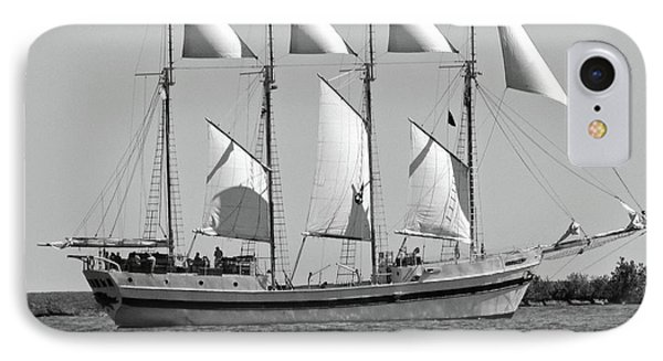 Schooner On Lake Michigan No. 1-3 IPhone Case by Sandy Taylor