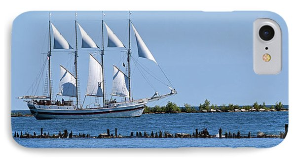 Schooner On Lake Michigan No. 1 IPhone Case by Sandy Taylor