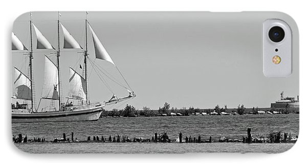 Schooner On Lake Michigan No. 1-1 IPhone Case by Sandy Taylor