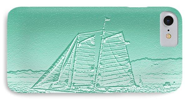 Schooner On New York Harbor No. 3-3 IPhone Case by Sandy Taylor