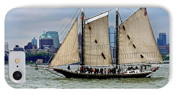 Schooner On New York Harbor No. 1 IPhone Case by Sandy Taylor