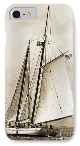 Schooner Sailboat Spirit Of South Carolina Sailing IPhone Case by Dustin K Ryan