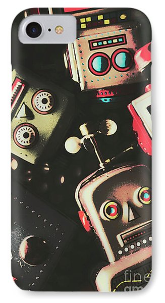 Science Fiction Robotic Faces IPhone Case by Jorgo Photography - Wall Art Gallery