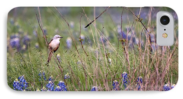 Scissor-tailed Flycatchers IPhone 7 Case by Cathy Alba