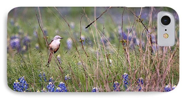Scissor-tailed Flycatchers IPhone Case by Cathy Alba