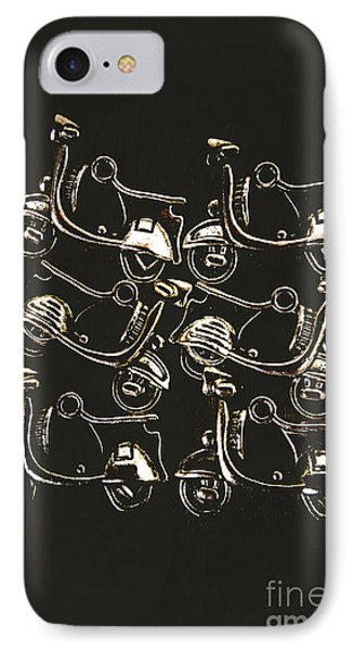 Scooters Of Pop Culture IPhone Case by Jorgo Photography - Wall Art Gallery
