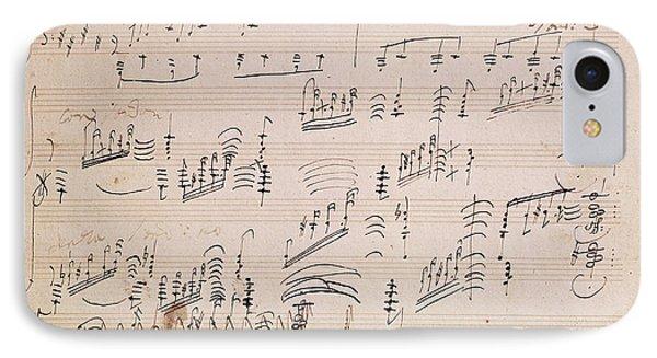 Score Sheet Of Moonlight Sonata IPhone Case by Ludwig van Beethoven