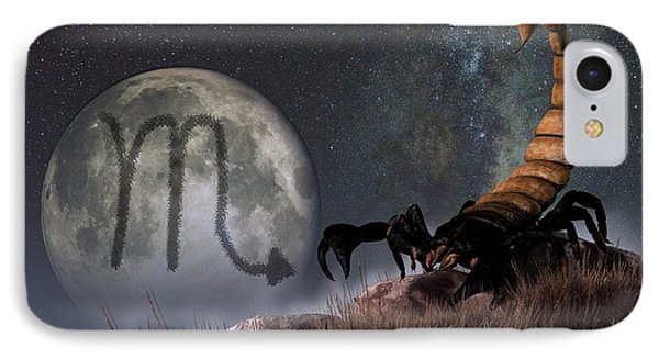 Scorpio Zodiac Symbol Phone Case by Daniel Eskridge