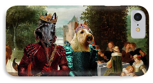 Scottish Terrier  Art Canvas Print -  An Elegant  Music Party IPhone Case by Sandra Sij