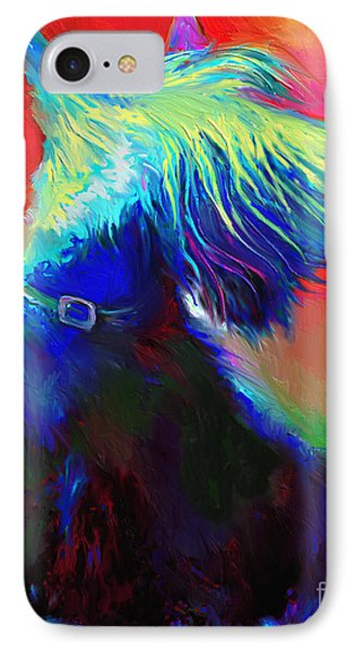 Scottish Terrier Dog Painting IPhone 7 Case by Svetlana Novikova