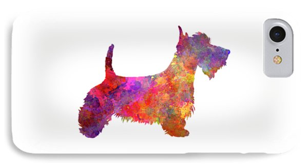 Scottish Terrier In Watercolor IPhone Case by Pablo Romero
