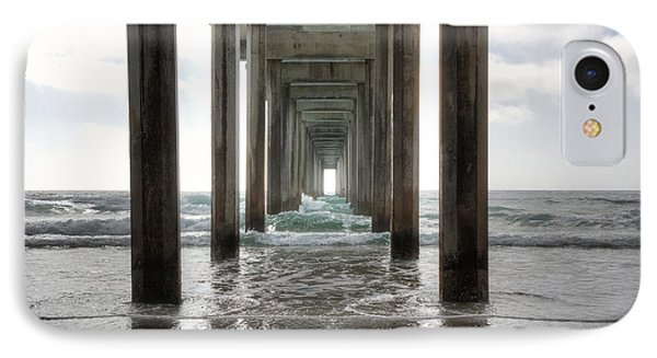 Scripps Pier IPhone Case by Eddie Yerkish
