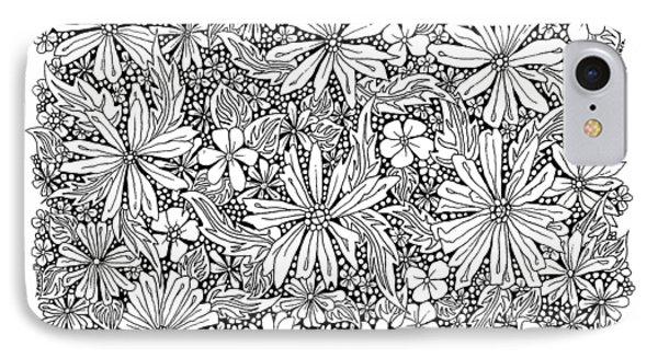 Sea Of Flowers And Seeds At Night Horizontal IPhone 7 Case by Tamara Kulish