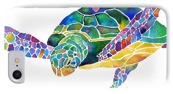 Sea Turtle Celebration 4 Prints Only IPhone Case by Jo Lynch