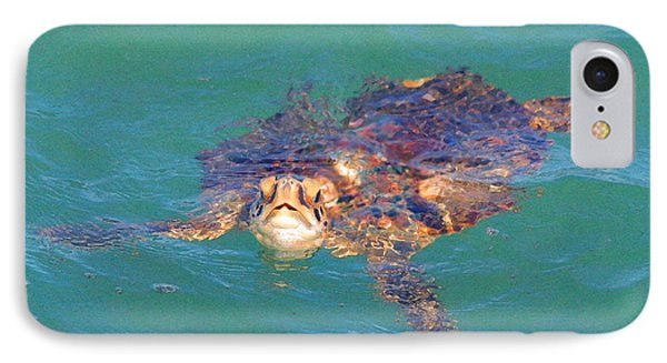 Sea Turtle / Cocoa Beach IPhone Case by W Gilroy