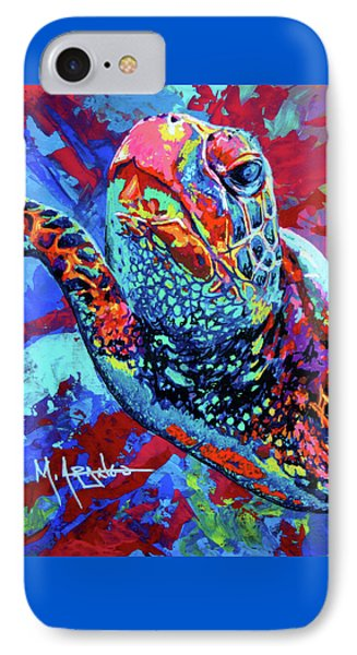Sea Turtle IPhone Case by Maria Arango