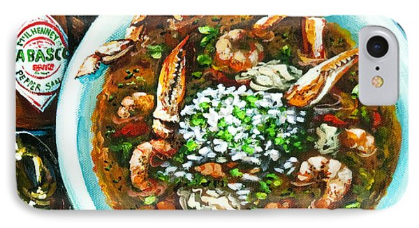 Seafood Gumbo Phone Case by Dianne Parks