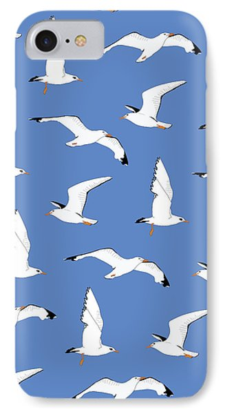 Seagulls Gathering At The Cricket IPhone 7 Case by Elizabeth Tuck