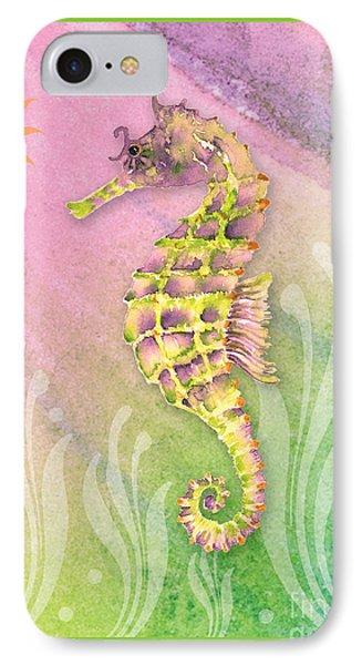 Seahorse Violet IPhone Case by Amy Kirkpatrick