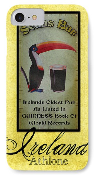 Seans Bar Guinness Pub Sign Athlone Ireland IPhone 7 Case by Teresa Mucha