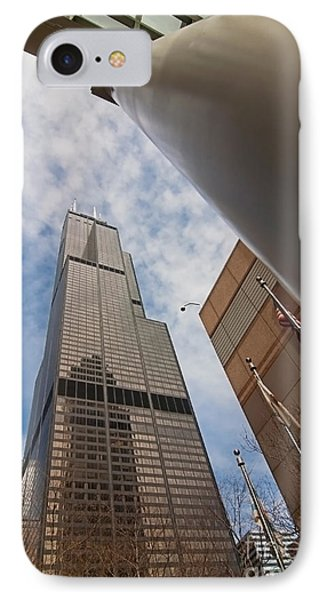 Sears Tower From Across The Street Phone Case by Sven Brogren