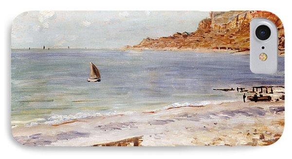 Seascape At Sainte Adresse  IPhone Case by Claude Monet