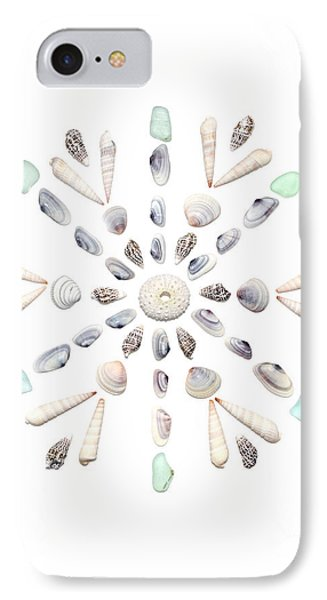 Seashell Snowflake 2 IPhone Case by Jennifer Booher
