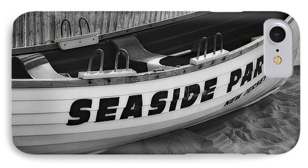 Seaside Park New Jersey Bw IPhone Case by Susan Candelario