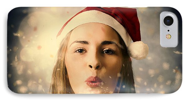 Seasons Greetings Girl IPhone Case by Jorgo Photography - Wall Art Gallery